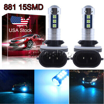 881 889 3030 15SMD LED Fog Light Conversion Kit Super Bright 8000K Ice Blue