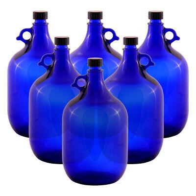 6 Unidad Globo de Cristal Botella 5 Litros Azul - Galón Damajuana...