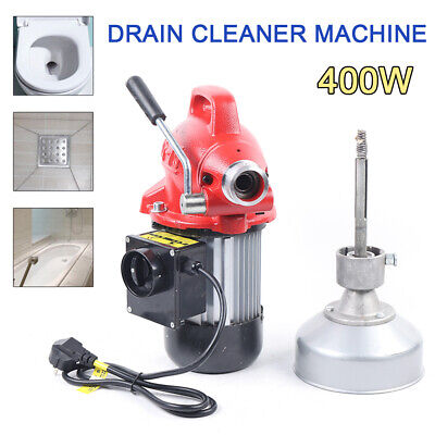 Pipe Cleaning Machine Sewage Electric Spiral Pipe Drain Cleaner 400umin 400w De