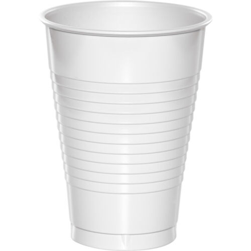 Bulk White Plastic Cups, 240ct