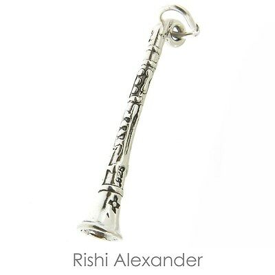 925 Sterling Silver Clarinet Charm Made in USA