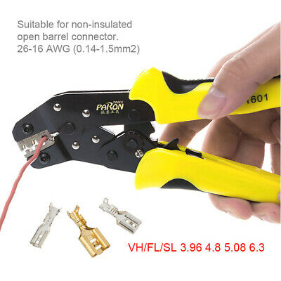 Paron Wire Crimper Ratchet Terminal Crimping Plier Jx-48b 0.14-1.5mm Tool B5i3