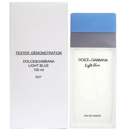 DOLCE GABBANA LIGHT BLUE 3.3 oz D&G WOMEN PERFUME EDT 100ML 3.4 NEW IN BOX W CAP