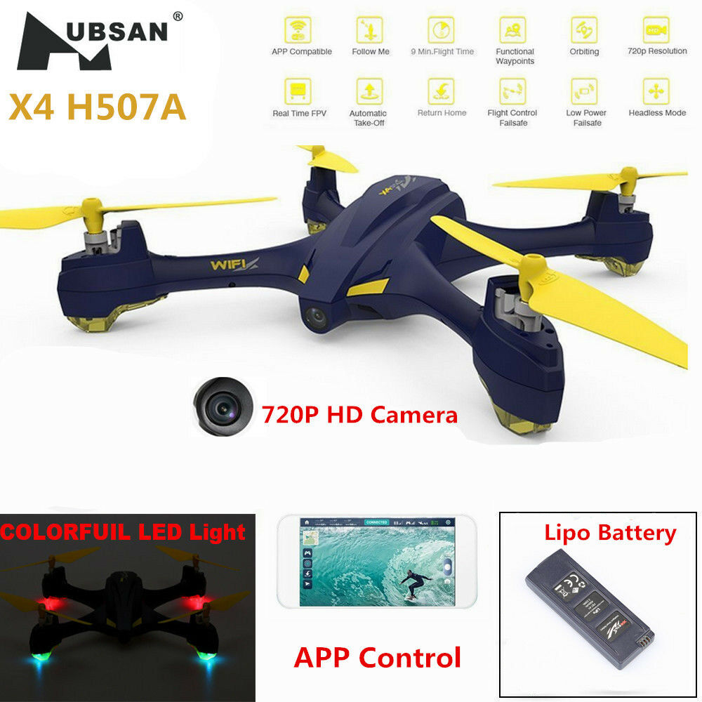 Hubsan H507A X4 FPV Headless RC Quadcopter 720P HD Camera Follow Me GPS APP RTF