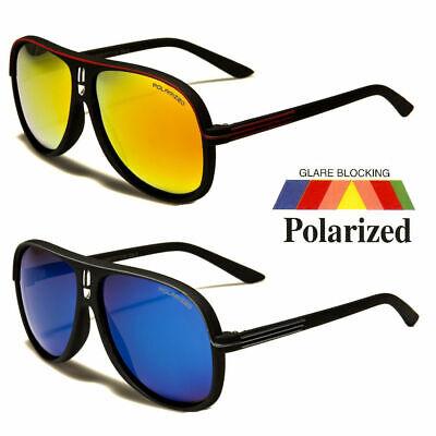 Retro Polarized 80s Fashion Aviator Sunglasses Black White Men Vintage (Glasses Black And White)