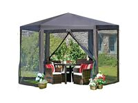 Grey Hexagonal 2x2M Outdoor Gazebo/ Marquee