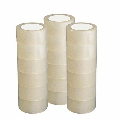 12 Rolls Carton Sealing Clear Packing Tape Box Shipping - 2.7 mil 1.8