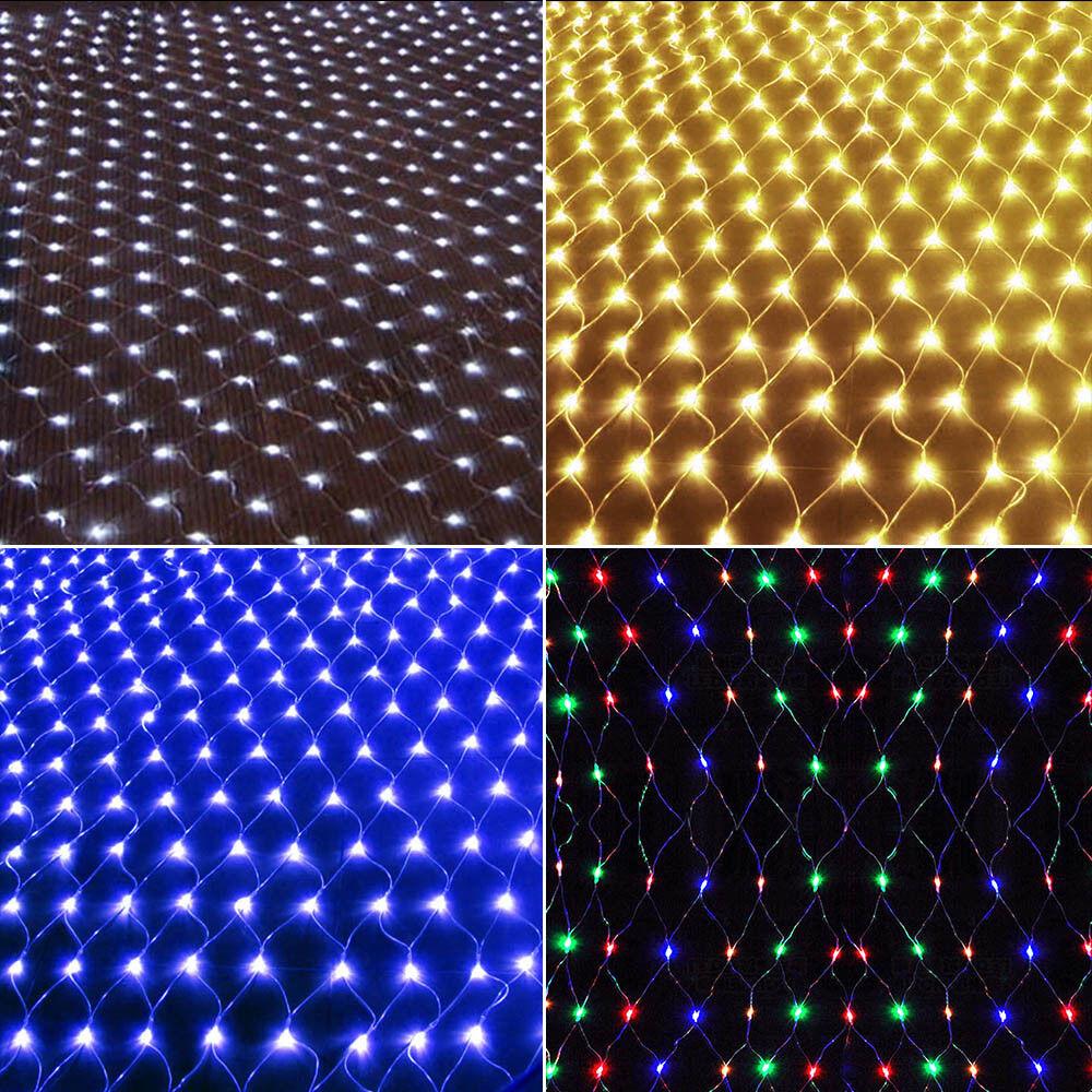 Weihnachten LED Deko Lichternetz  Außen Innen Garten Lichterkett
