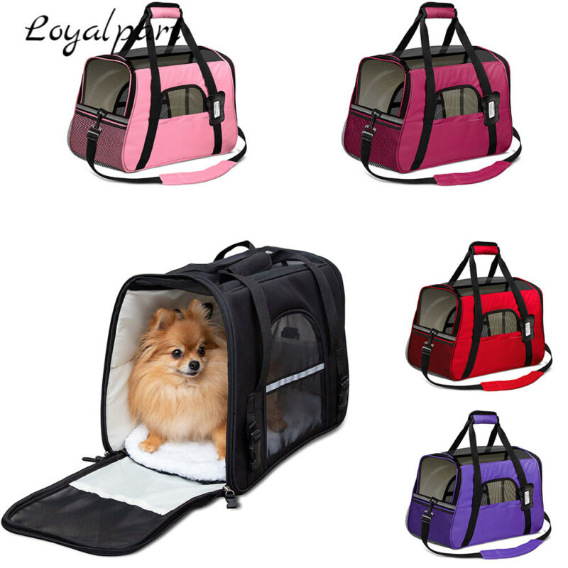 For Cat Dog Pet Carrier Bag Travel Comfort Bag Case Airline Approved Soft Sided