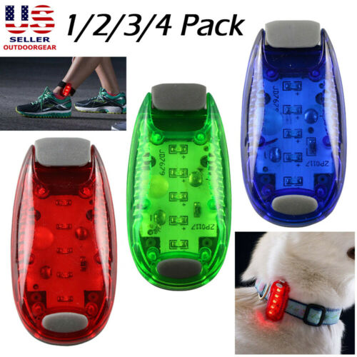 2Pcs LED Safety Light w/ Strap Clip On Strobe/Running Lights