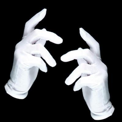 German Trendseller® - 1 x Weiße Handschuhe - Deluxe | Pantomime | Nikolaus