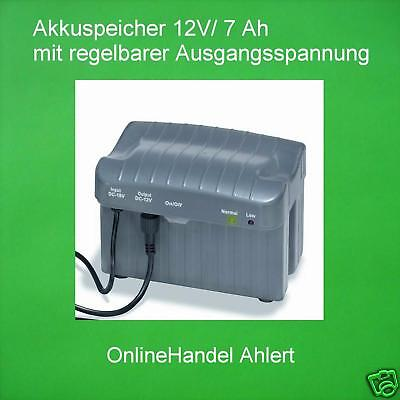 Akkuspeicher 12V/7A Battery Solar Pump Pond Pump Pond Pump Akkubox