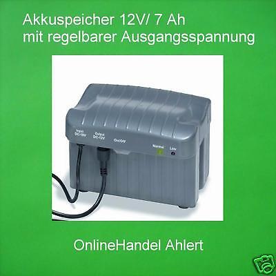Akkuspeicher 12V/7A Battery Solar Pump Pond Pump Solar Pond Pump
