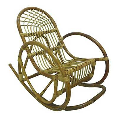 Chair To Rocking Armchair Children Baby Natural Wicker And Rattan Dondolino Baby