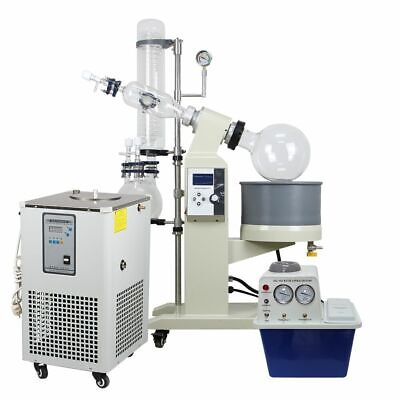 5l Rotary Evaporator Motor Lifting Turnkey Package W Water Vacuum Pump