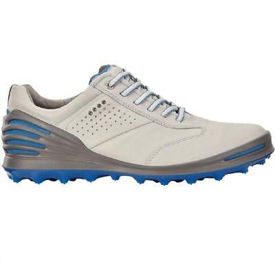 Hydromax Golfschuh (Ecco Golf Käfig pro 2018 Stollenlose Hydromax Leder Golf Schuhe (Beton / Blau))