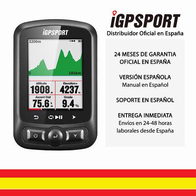 iGPSPORT iGS618 - Ciclo computador GPS con ANT+ Navegación con mapas. Altímetro