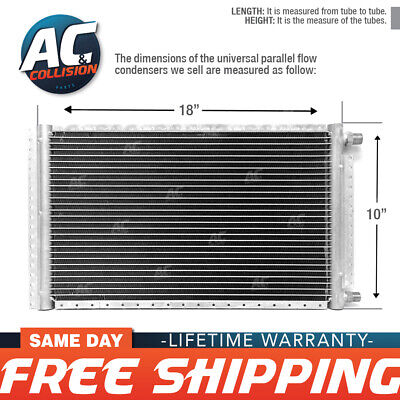 CNFP1018 AC A/C Universal Condenser Parallel Flow 10 x 18 O-ring #6 And #8
