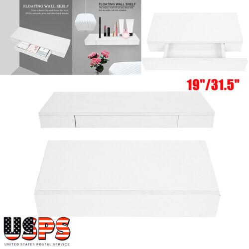 Wall Mount Storage Shelves Floating Display Rack Home Organi