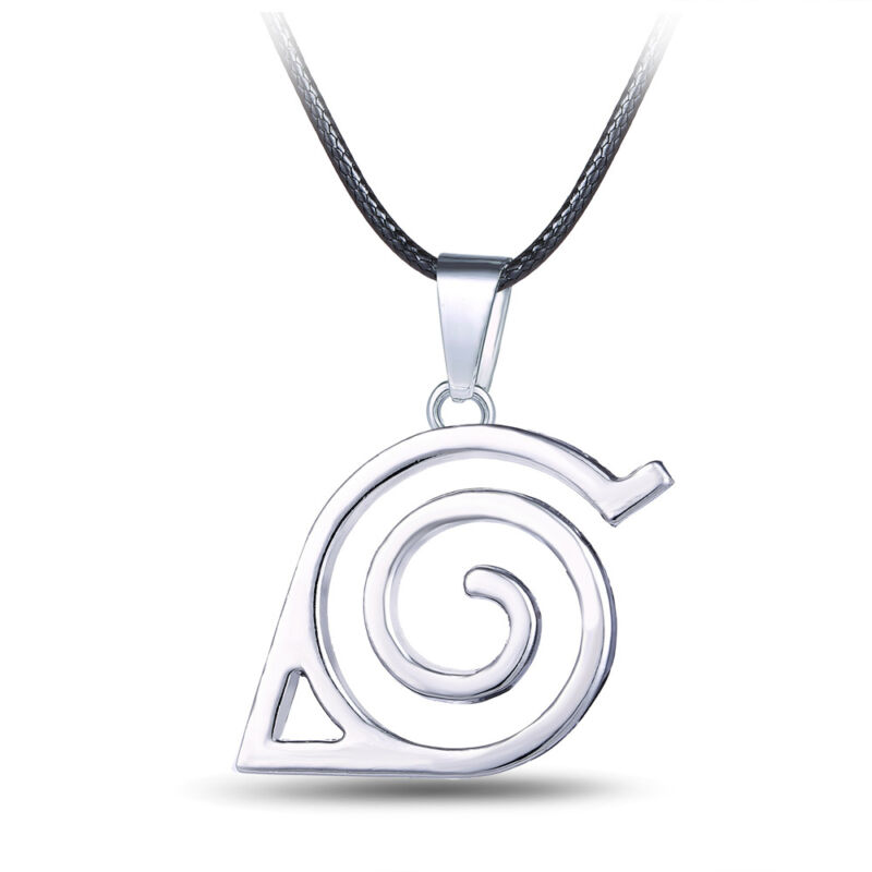Anime Naruto: Leaf Symbol Necklace Cosplay Costume Accessory Toy #HF0