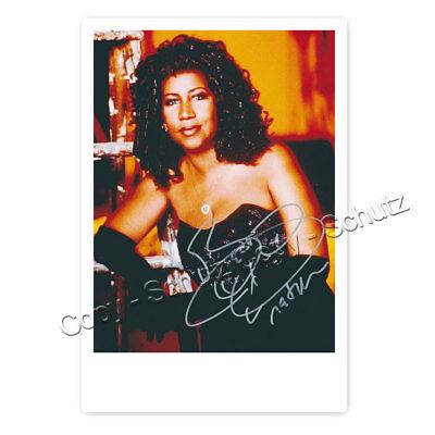 Aretha Franklin (1942 - 2018 †) - Autogrammfotokarte laminiert [AK6]