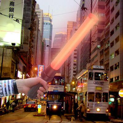 Led Lights Traffic Handheld Wand Safety Control Baton Signal Warning Flashlights