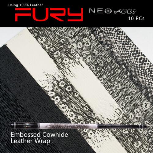 FURY Leather Wrap For Billiard Pool Cue Waterproof Non-slip Lizardskin Accessory