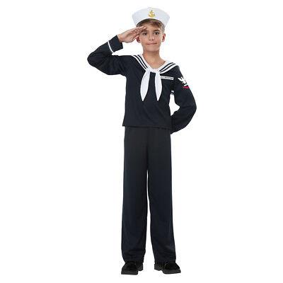 Kids Navy Sailor Uniform Halloween - Kids Navy Kostüme