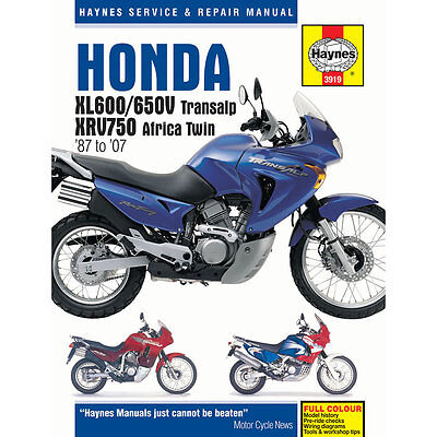 Honda XL600/650V Transalp XRV750 Africa Twin 1987-2007 Haynes Workshop Manual