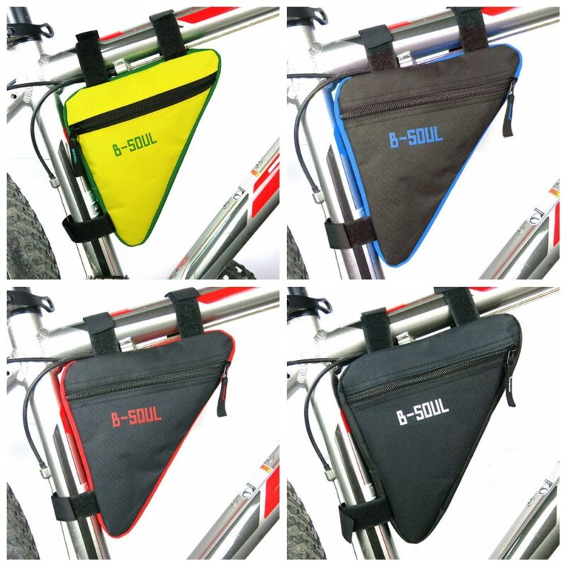 Bicycle Triangle Frame Front Bag Cycling Bike Tube Pouch Holder Waterproof Bag