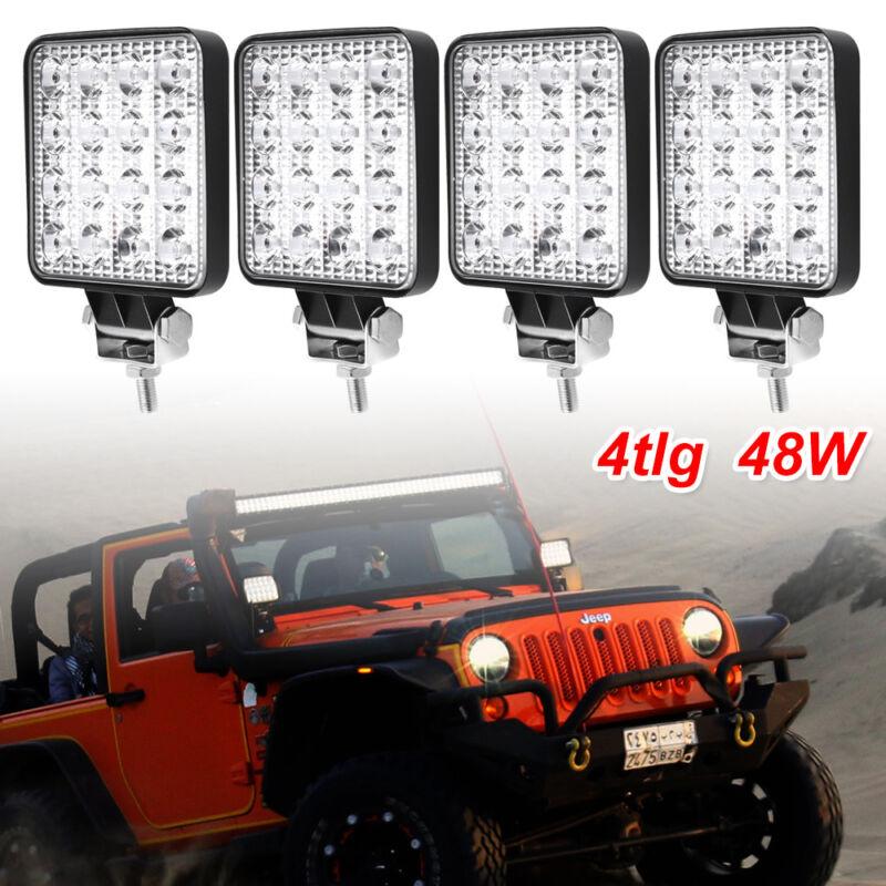 96W LED Power Arbeitsscheinwerfer 10° 12V 24V Offroad Forst Industrie Traktor