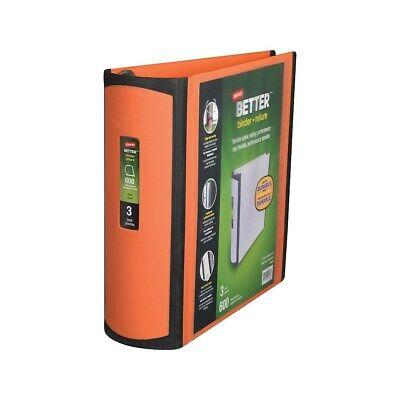 Staples Better View 3-inch Slant D 3-ring Binder Orange 16405 5589216405
