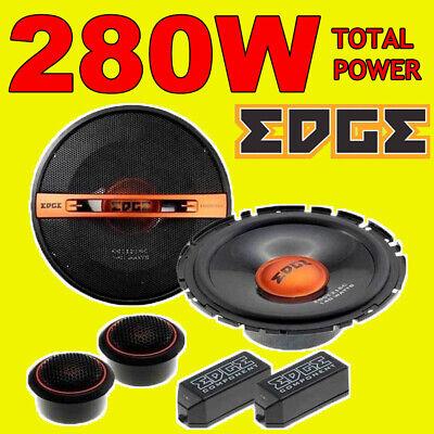 EDGE 280W TOTAL 2WAY 6.5 INCH 16.5cm CAR DOOR 2WAY COMPONENT SPEAKERS...