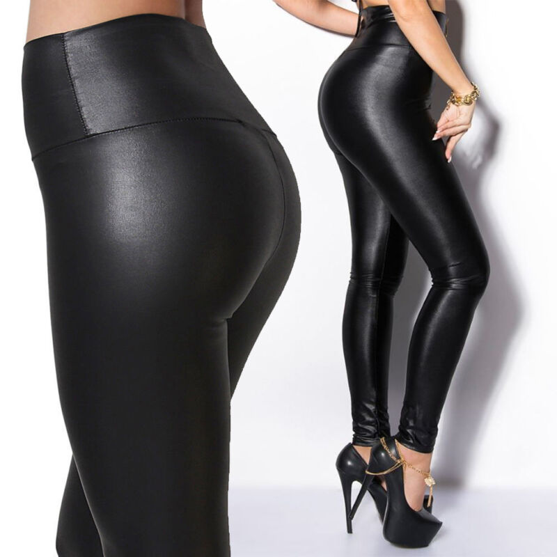 Leggings - Fashion Women Black Skinny Slim Stretch High Waist Pencil Pants Leggings Trouser