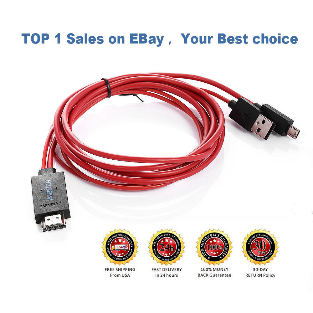 MHL Micro USB to HDMI 1080P HD TV Cable Adapter for Samsung Galaxy S4 S3 Note 2 Cables & Adapters