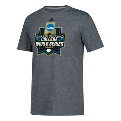 - 2017 College World Series NCAA Adidas Grey Logo Climalite T-Shirt