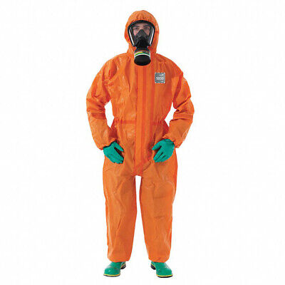 Ansell 68-5000 Orange Chemical Resistant Coveralls 2xl 6 Pcs