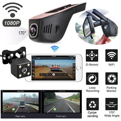 WiFi Auto Kamera 1080P HD DVR Dashcam Versteckte Kamera Parkmonitor G-Sensor KFZ - Auto-kamera