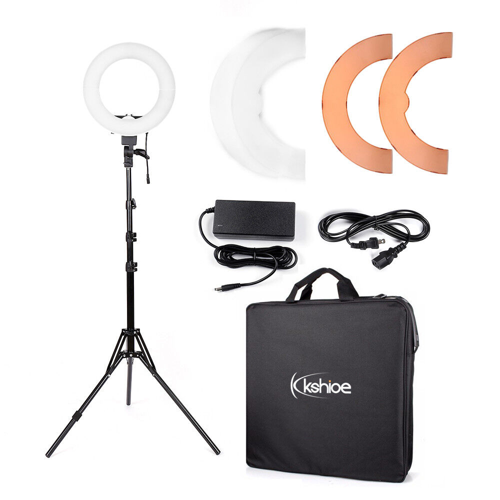 -   10 - 180pcs LED Ring Light Dimmable 5500K Lighting Video Continuous Light Stand Kit