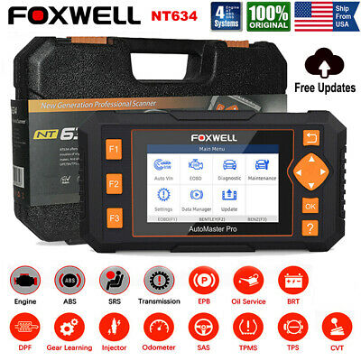 FOXWELL NT634 Pro OBD2 Diagnostic Scanner ABS SRS TPMS Oil Reset Code Reader