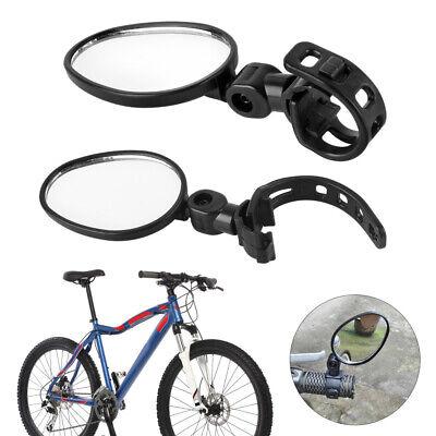 2×Espejo de Bicicleta Espejo Manillar Ajustable 360°Rotación Eléctrica MTB