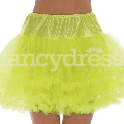 Yellow Underskirt Moulin Rouge Ruffle Tutu Bustle Burlesque - Moulin Rouge Kostüm Party