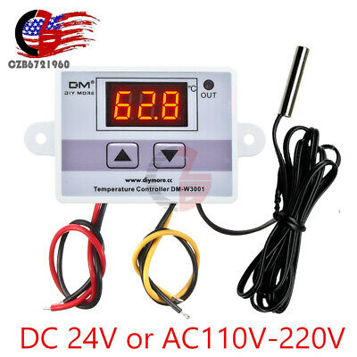 W3001 24vac -50-110c Digital Thermostat Temperature Control Switch Module