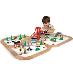 81 Piece Mega Value Wooden Train Set, Kids Creative Play Toys, Only at Toys R Us