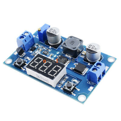 LTC1871 100W 3-35V 12V to 3.5-35V Boost Step-up Module LED Voltmeter +Heat Sink