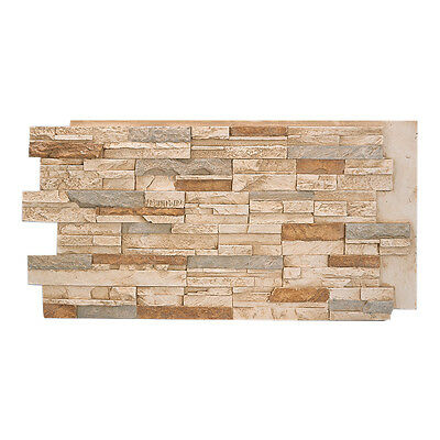 Faux Stone Panels - #137 Multi Color Faux Stacked Stone Wall Panel made in USA Polyurethane