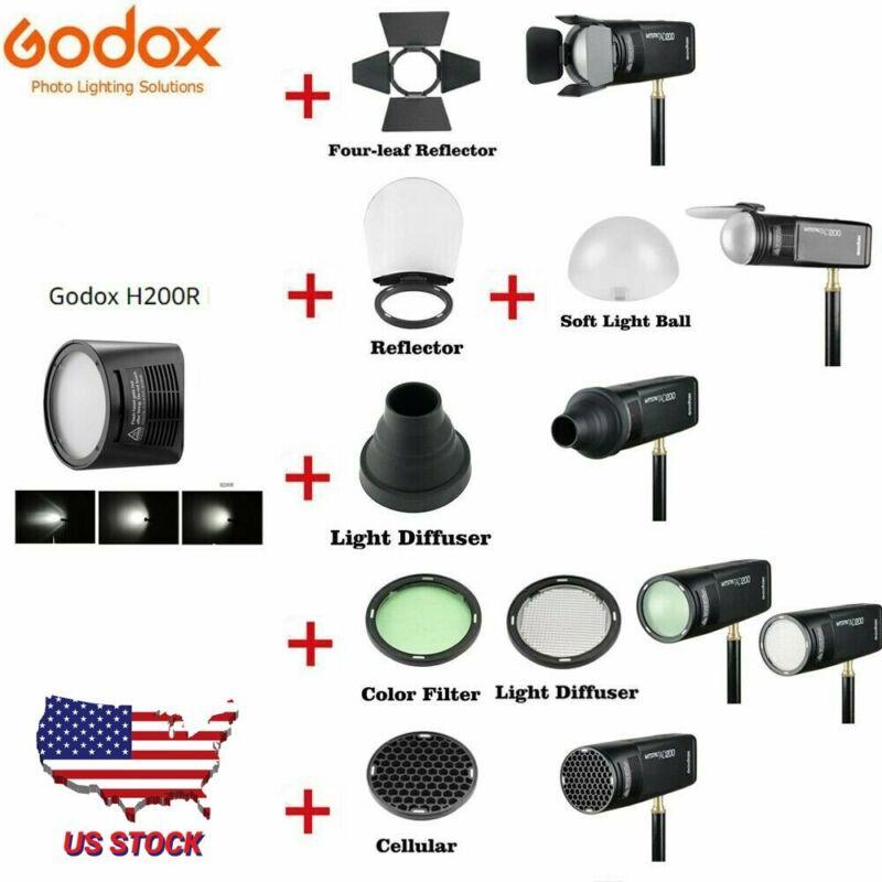 Godox H200R Ring Flash Head Godox AK-R1 Accessories Kit For AD200 AD200PRO Flash
