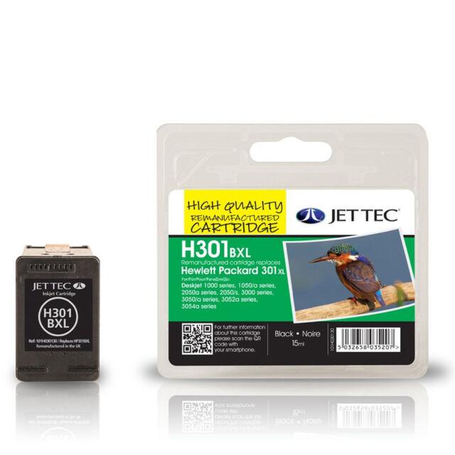 JET TEC HP301XL HIGH CAPACITY REMANUFACTURED HP CH563EE BLACK INK CARTRIDGE