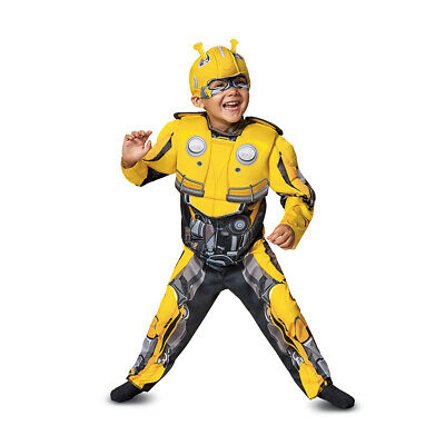 Disguise Toddler Boys' Transformers Bumblebee Muscle Halloween Costume, - Halloween Costumes Bumble Bee Transformer