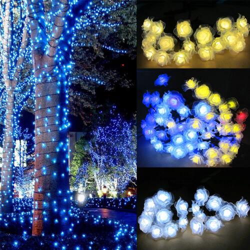 30 200 LED Solar String Fairy Light Garden Christmas Outdoor Party Decoration US